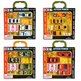 Super Action Forces Toy Car Set by ArtCreativity - 12 Toys Each Kit - Military, Fire, Construction, Police Vehicles & Accessories - Army Trucks and Emergency Fleet Cars for Kids