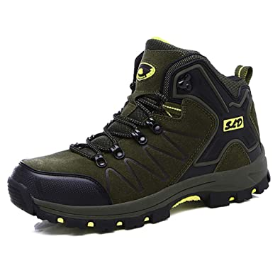 29755eb5a ZHShiny Men Women Hiking Boots Water-Resistant Outdoor High-top Trekking  Trail Shoes for
