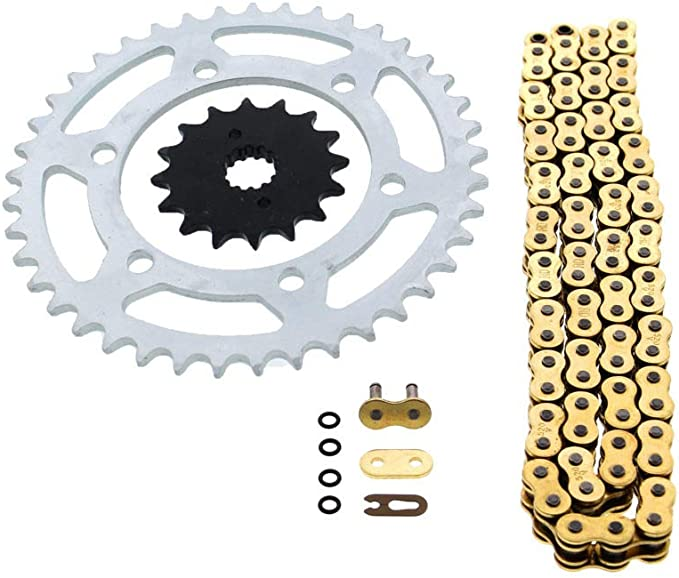 Caltric O-Ring Blue Drive Chain /& Sprockets Kit for Kawasaki Ex500 Ex-500 Ninja 500 500R 1994-2009