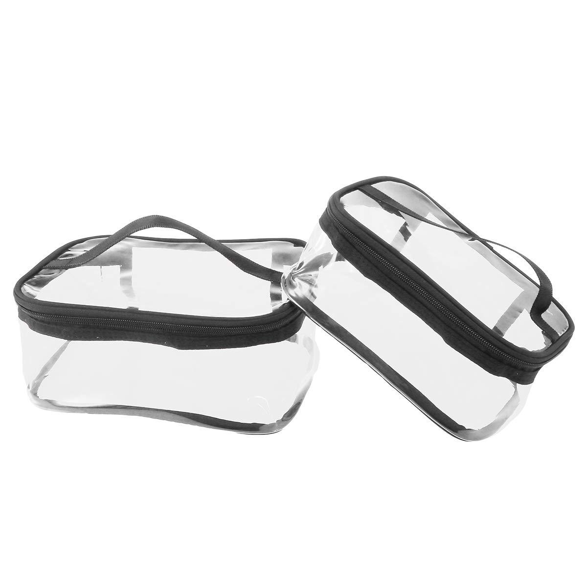Lurrose 2pcs Multi-Fonctionnel Sacs de Maquillage Sac à cosmétiques Portable Sac de Rangement
