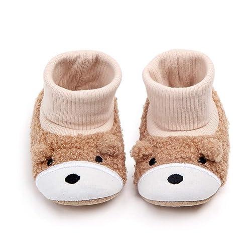 2406122c5bcb SEEYAN Baby Boy Girl Newborn Cute Animal Soft Fleece Snow Booties Infant  Warm Winter First Walker