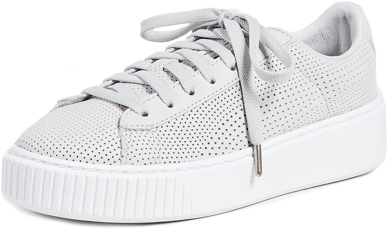 PUMA Women's Basket Platform Perforated Sneakers: Amazon
