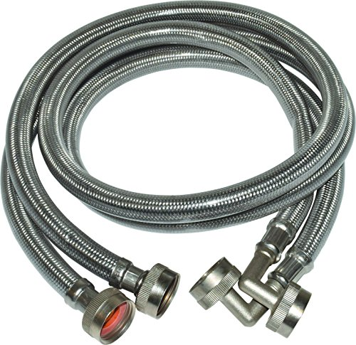 "Eastman 48378 Washing Machine Hoses 90 Degree, 6'x3/4""x3/4"""