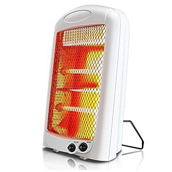 HM&DX Infrarrojo Eléctrico Cuarzo Calentador,Silenciosa Radiante Inclinar-Sobre la protección 2 Ajustes de