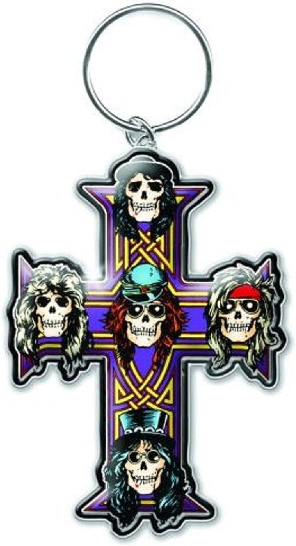 Guns N Roses Schlüsselring Keychain Appetite For Destruction Nue Offiziell Metal Bekleidung