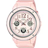 Casio Watch For Women Quartz, Analog-Digital Display and Rubber Strap Bga150Ef-4B, Pink Band