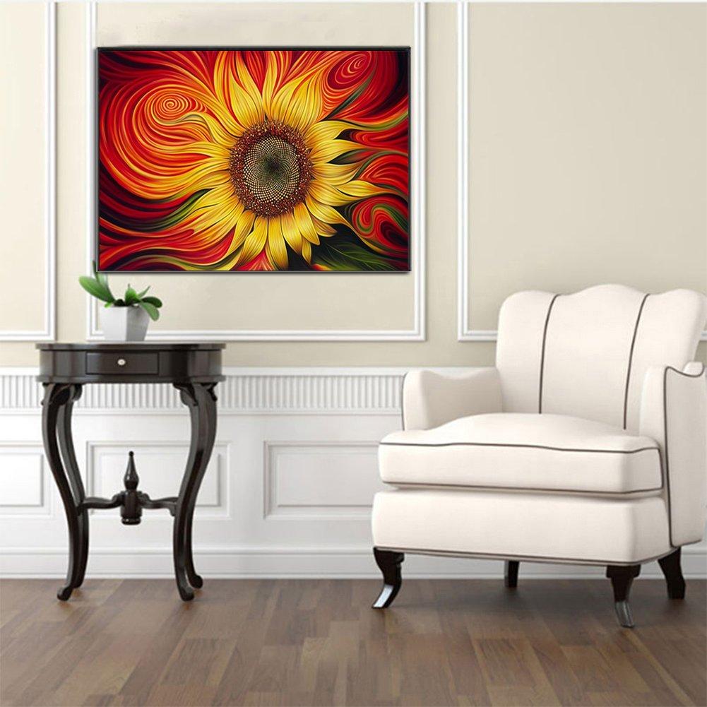 5D Diamond Painting Cross Stitch Kit Sunflower Pattern Embroidery Wall Home Decor