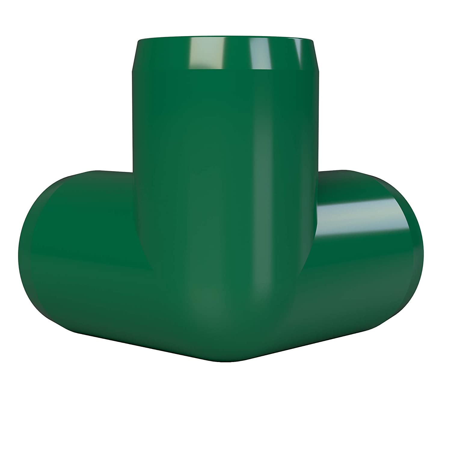 1//2 Size Pack of 10 Green Furniture Grade FORMUFIT F0123WE-GR-10 3-Way Elbow PVC Fitting