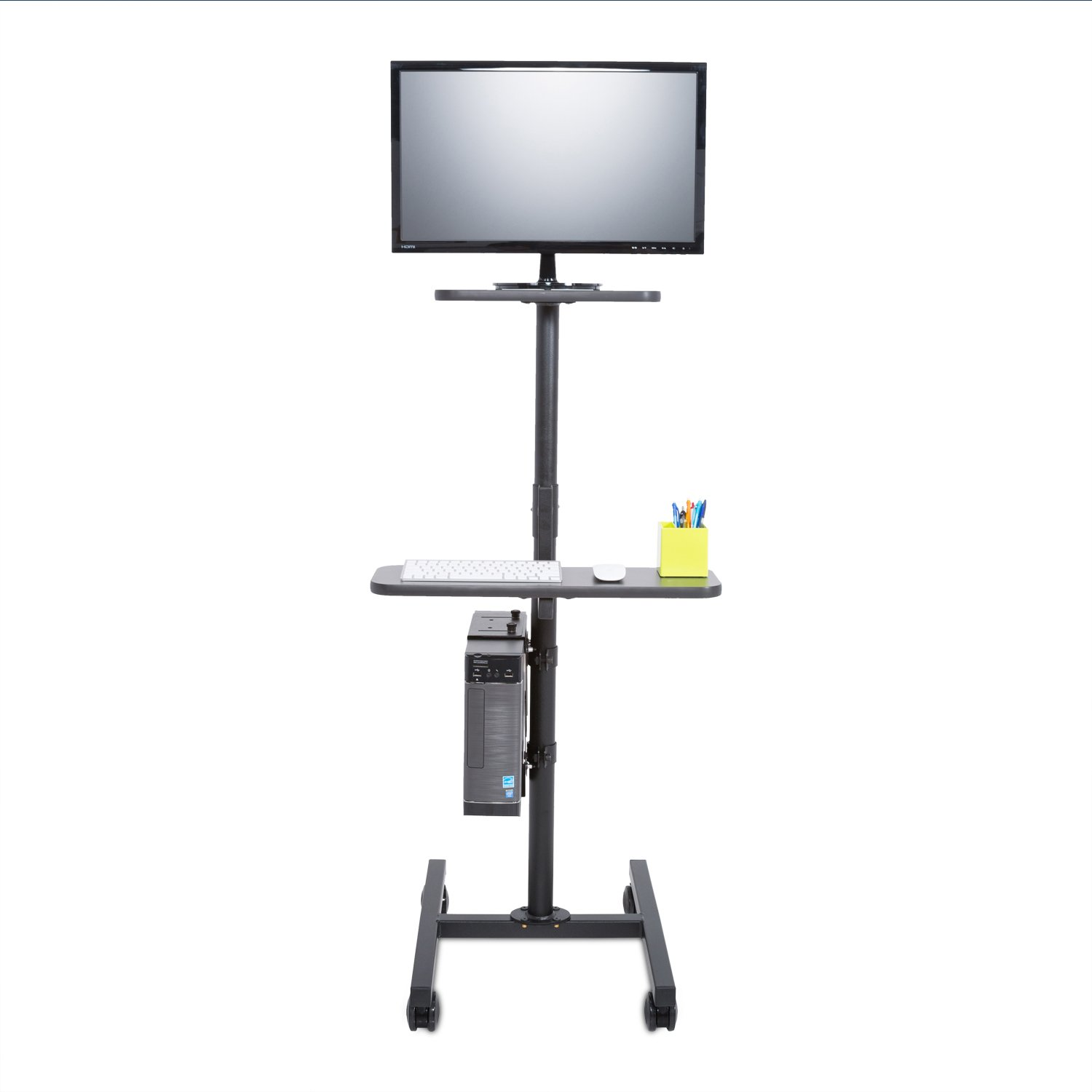 Height Adjustable Rolling Cart Workstation, Black by Versa Tables (Image #3)