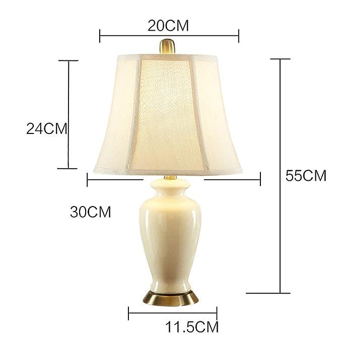 Lámpara de mesa/ Ali@ Dormitorio Moderno Simple de la cabecera cerámica para la Sala de Estar: Amazon.es: Hogar