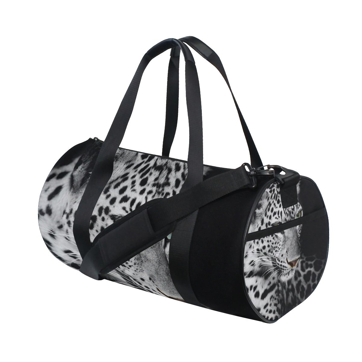 Leopard Pattern Print sports Duffel Bags, Travel Gym Fitness Bag
