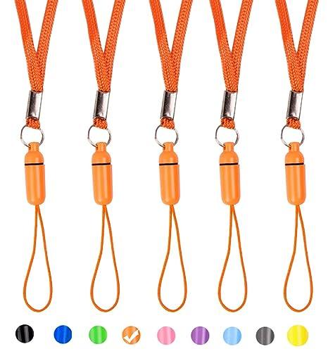 ZhaoCo Portabadge Laccio da Collo ID Carta Chiavi 3 pezzi Staccabile Nylon Collo Cordino porta Badge per Mobile Cellulari 3 pezzi Chiavette USB Rosso