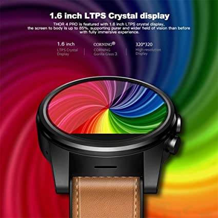 Dynamicoz Relojes Inteligentes, para Zeblaze Thor 4 Pro 4G SmartWatch Pantalla de Cristal de 1,6 Pulgadas GPS/GLONASS Quad Core 16GB 600mAh Reloj ...