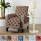 Home Fashion Designs Adalyn Collection Deluxe Reversible Quilted Furniture Protector. Beautiful Print on One Side/Solid Color on the Other for Two Fresh Looks. By Brand. (Recliner, Chocolate)