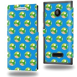 Life Up ! Collection Pattern Funda de Cuero para Microsoft Lumia 435 Flip Case Cover (Estuche) PU Cuero - Accesorios Case Industry Protector