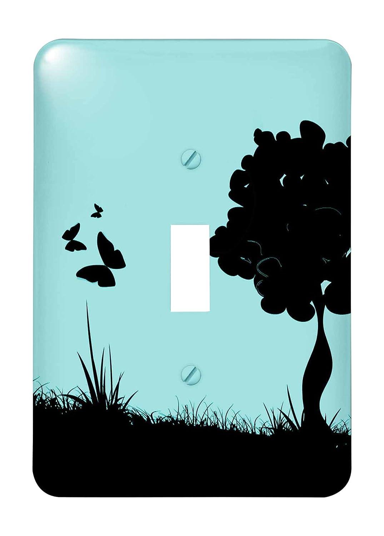 【同梱不可】 3drose Meadow ( LSP_ 158949_ against 1 ) Aツリーのシルエットがブラック )、Butterflies and Meadow against aターコイズ背景Single切り替えスイッチ B00G3MMMI2, リセプト インテリア:dc5a6e89 --- svecha37.ru