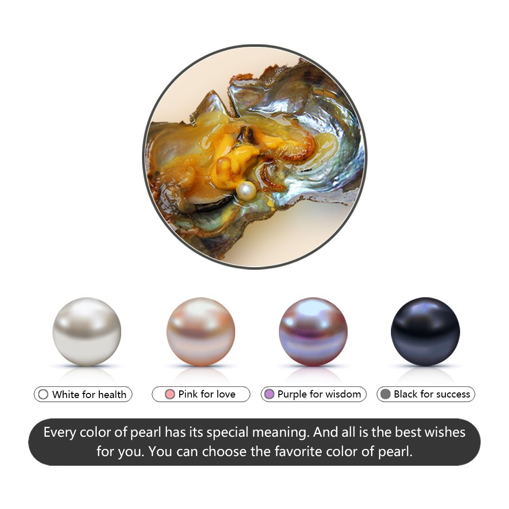 Ny 7-8mm Round Akoya Twins Cultured Pearl in Oyster 20pcs (White, Pink, Lavender, Dyed Black) by NY Jewelry (Image #3)