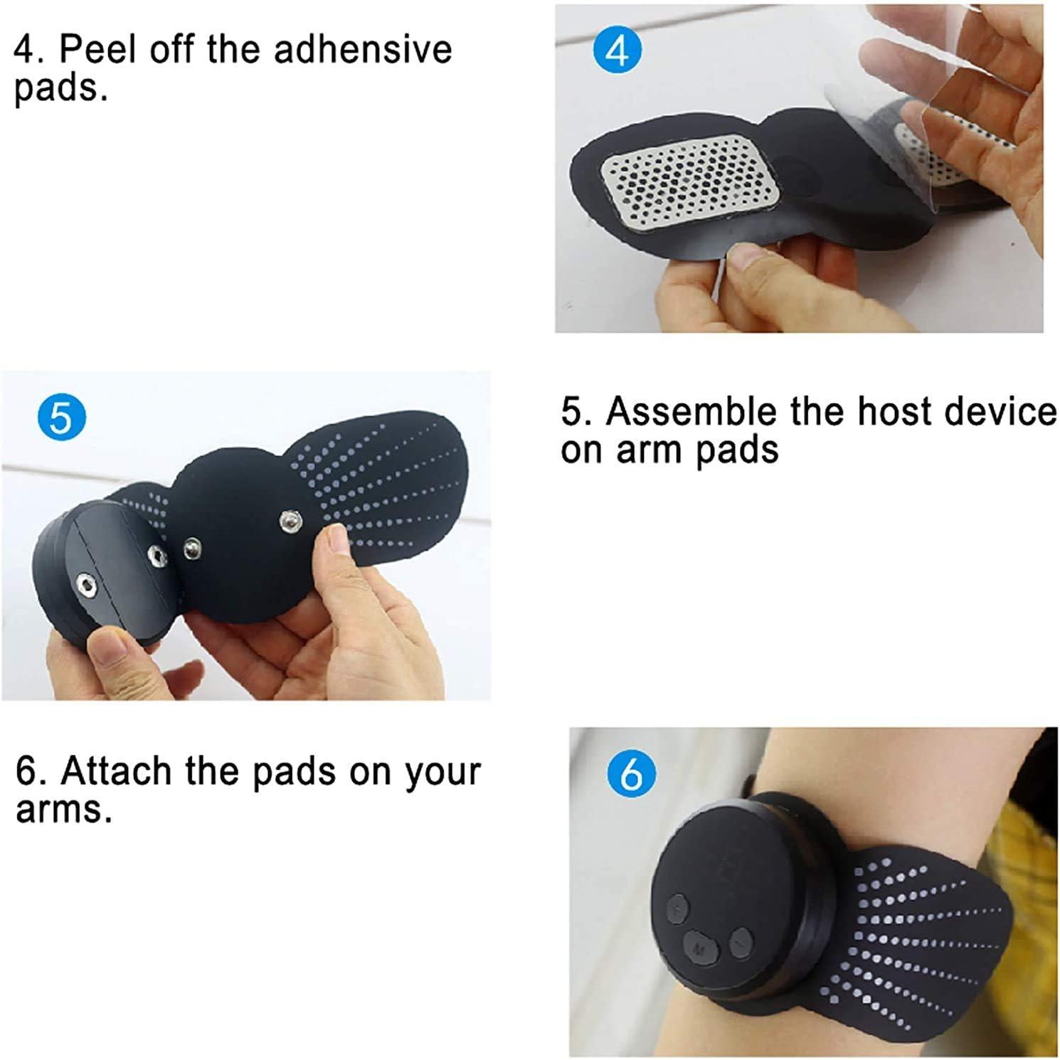 Addominale Tonificante Cintura EMS Stimolatore Muscolare Addome//Braccio//Gambe//Waist//Glutei ROOTOK Elettrostimolatore per Addominali Elettrostimolatore Muscolare