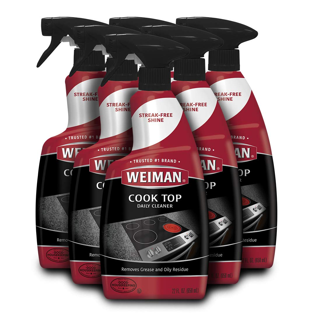 Weiman Ceramic & Glass Cooktop Cleaner - 22 Ounce [6 Pack] - Daily Use Professional Home Kitchen Cooktop Cleaner and Polish Use On Induction Ceramic Gas Portable Electric by Weiman (Image #1)
