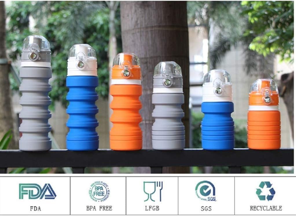 SOFIT Sport Bouteille deau Gourde Pliable en Silicone sans BPA Appliquer Voyage Portable avec Soupape Anti Fuite Facile /à Nettoyer et Ultra L/égers Gym Running Randonn/ée- 600ml 168g