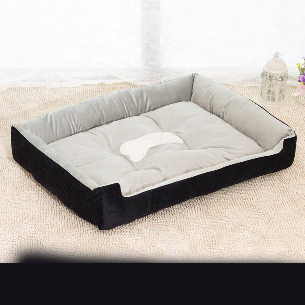 B 5040cm B 5040cm YunYilian Pet Bolster Dog Bed Comfort Short Plush Large Canine Kennel (color   B, Size   50  40cm)