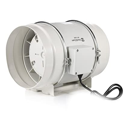 Honu0026Guan 8 Inch Inline Duct Fan Exhaust Fan Mixed Flow Inline Fan  Hydroponic Air Blower For