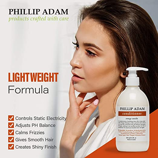 Phillip Adam Orange Vanilla Conditioner For Smooth And Shiny Hair No Harsh Chemicals Safe For Color Treated Hair Delicious Natural Scent 12 Ounce Beauty