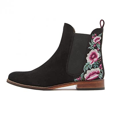 df28b11bdd7 Joules Westbourne Floral Embroidered Back Chelsea Boot (X)
