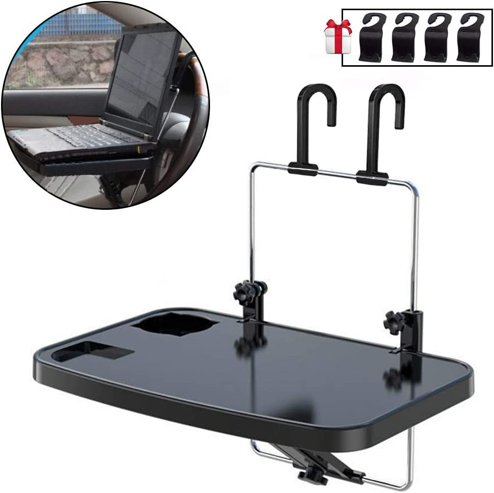 14 Inch Car Trays For Eating-Food-Office, Car Laptop Mount Stand Desk, Steering Wheel Table, Car Desk For Passenger Seat, Universal For Truck, Van, Car, SUV