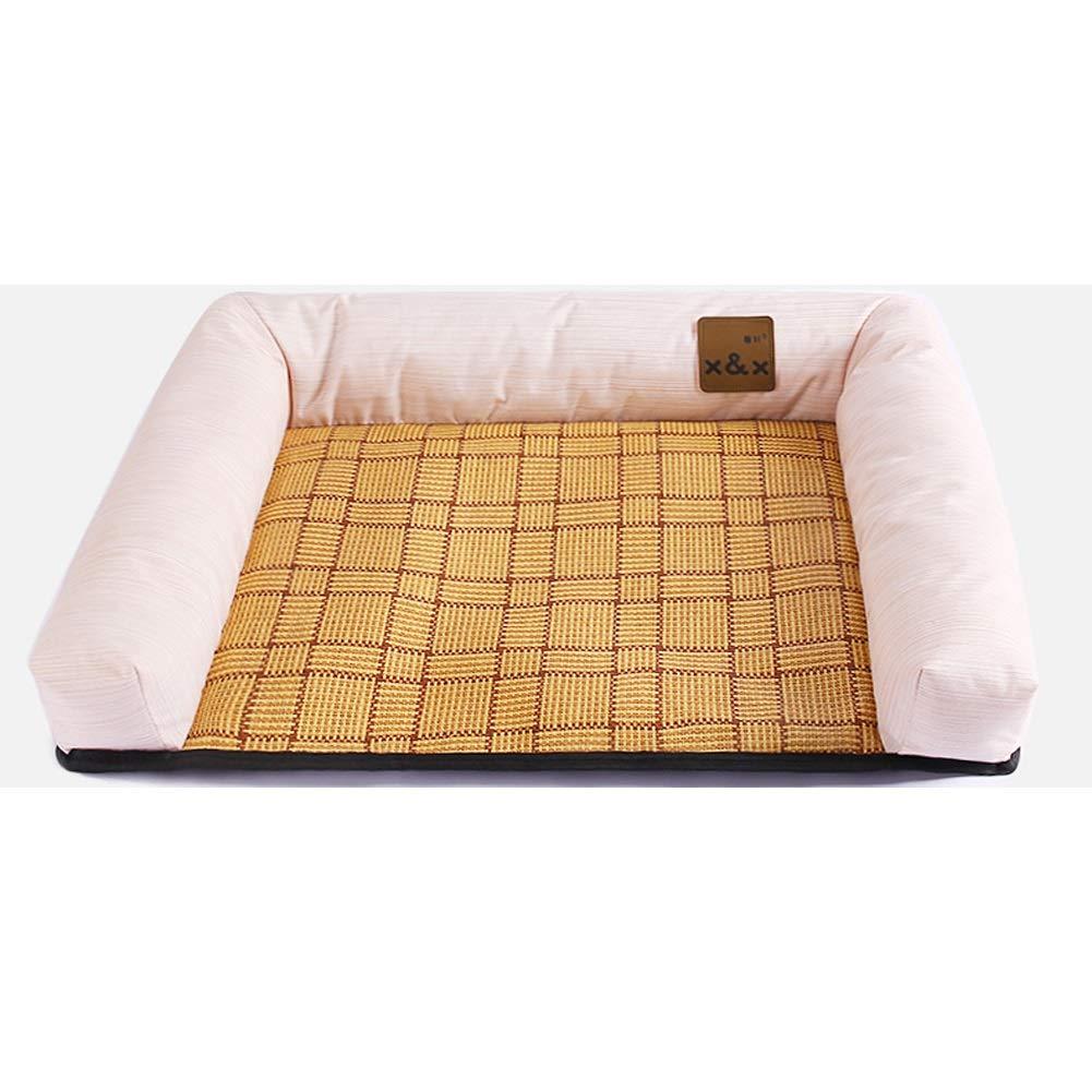 B L 63x53cm B L 63x53cm SHYPwM Moisture-Proof Kennel Dog Mat Summer Pet Nest Small Dog Mat Mat Four Seasons Universal (color   B, Size   L 63x53cm)