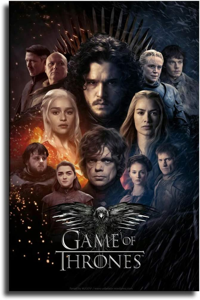 Game of Thrones Wall Art Modern Artwork Painting Print on Canvas Picture for Living Room Home Decoration Poster -334 (No Framed,24x36 inch)