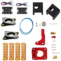 SUPEROMAS Upgrade Springs Extruder Kit Include Aluminum Extruder 2 Silicone Sock 4 Spings Lead Screw Coupler PTFE Tube 2 NEMA 17 Stepper Dampers 3D Printer Accessories Compatiable with Ender 3