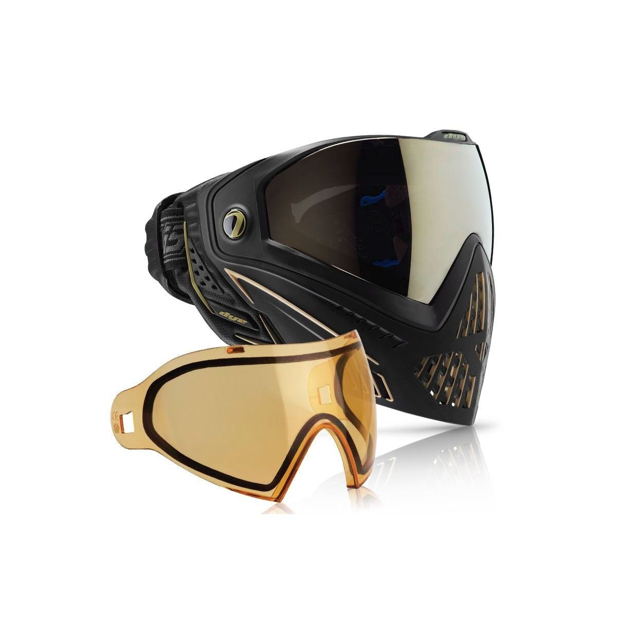 Dye i5ペイントボールGoggle B071Z2JTMR Onyx/Gold i5 With Additional HD Lens Onyx/Gold i5 With Additional HD Lens