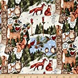Susan Winget Old World Christmas Woodland Thoughts Multi Fabric By The Yard