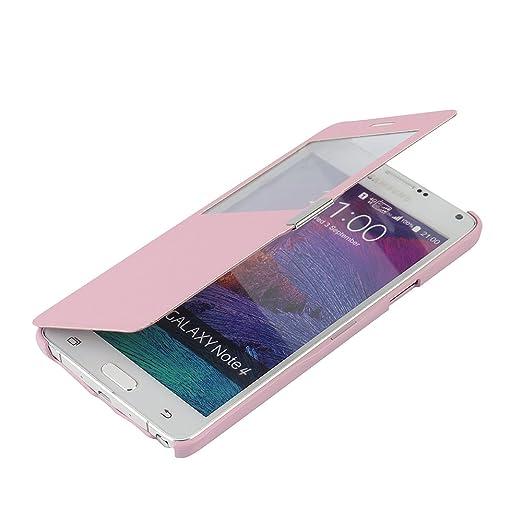 68 opinioni per Cover Samsung Galaxy Note 4, MTRONX Custodia Case Finestra Vista Ultra Foglio