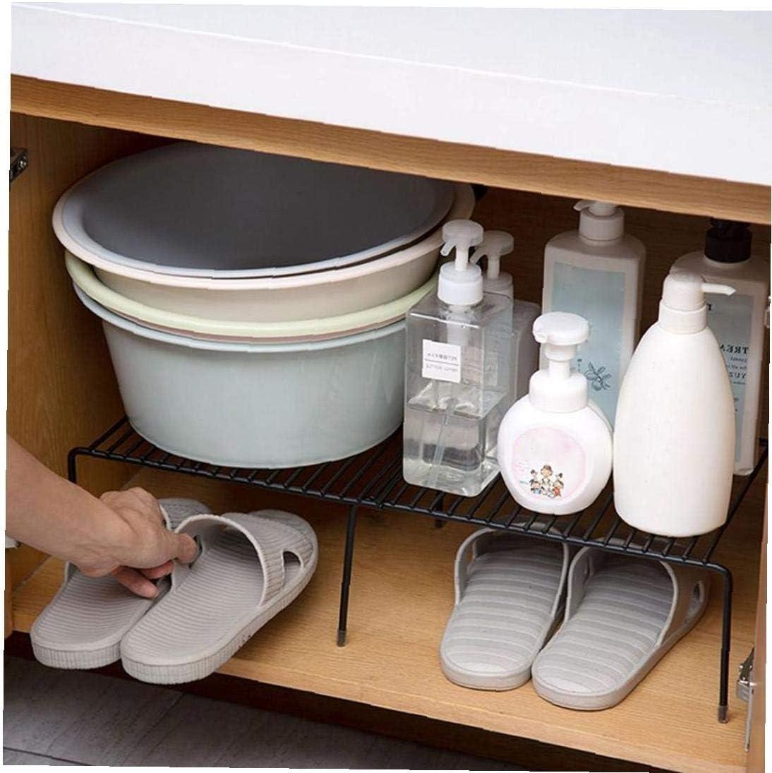 despensas encimeras Adore store Armario de la Cocina Estante Rejilla met/álica autoportante Estante de la Cocina Estante de Almacenamiento Ampliable Plataforma para armarios de Cocina