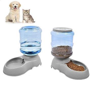 ACLBB 2 Unidades de dispensador automático de Comida para Gatos y comederos y dispensador de Agua