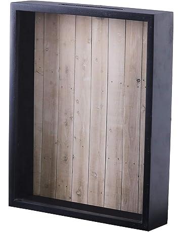 9f51b3bc59 Shadow Box Display Case – Top Loading Black Wood Frame - Showcase Bottle  Caps