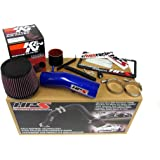 03-07 Honda Accord 3.0L V6 HPS Blue Shortram Air Intake Kit + K&N Filter Short Ram Cool