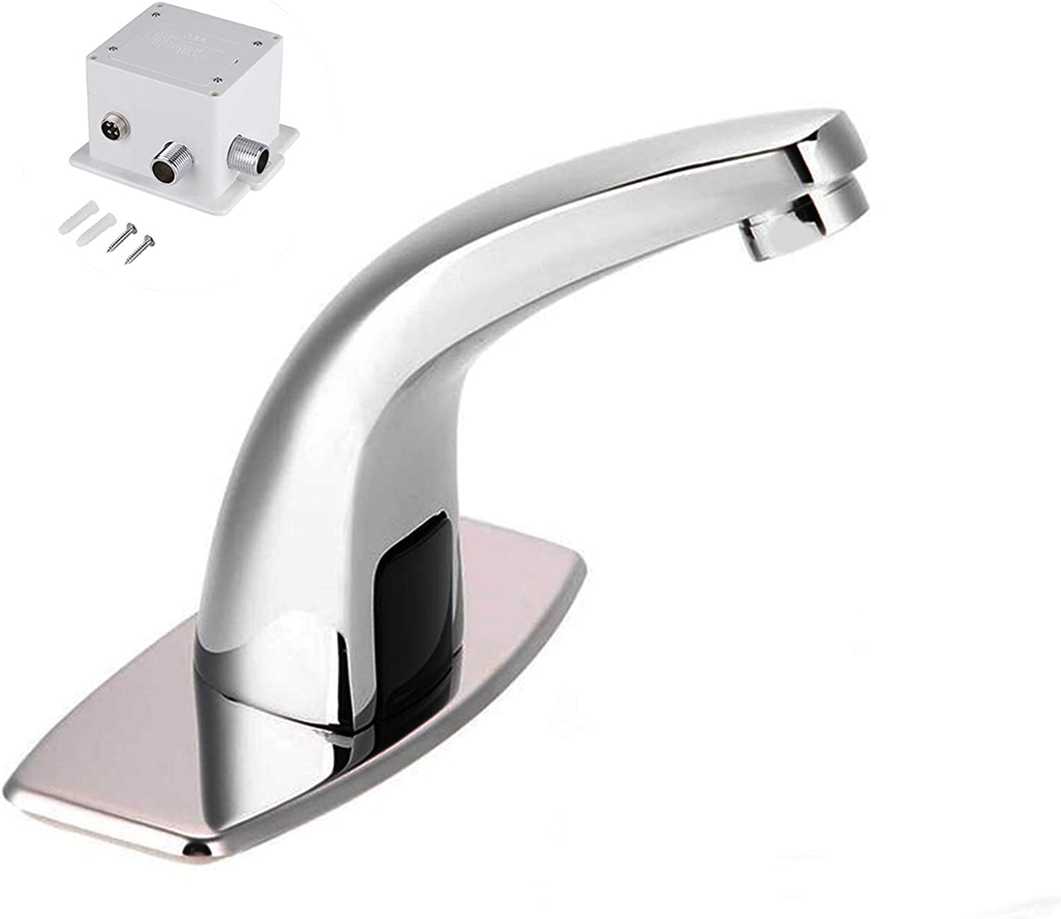 Non-Contact Automatic Touchless Sensor Faucet Bathroom Sink Water Tap for Home Hotel Use G1//2in Water Faucet Sensor