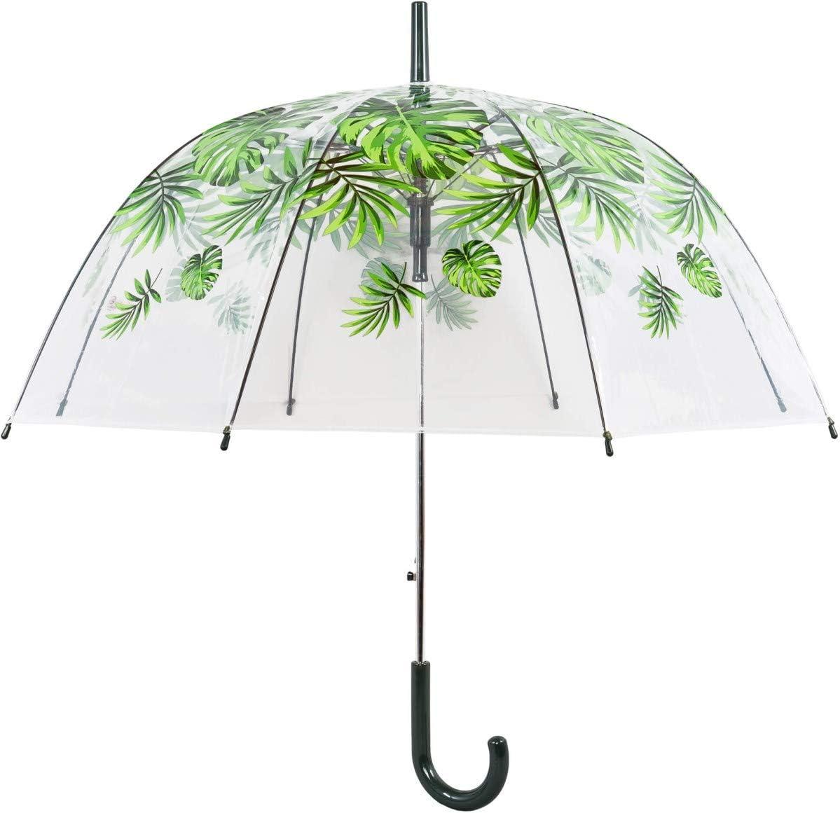 Transparent Imprim/é Chat Large Protection avec Un Diam/ètre de 85 cm Parapluie Cloche Transparent Parapluie Transparent avec Imprime Petit Chat Parapluie D/ôme Automatique