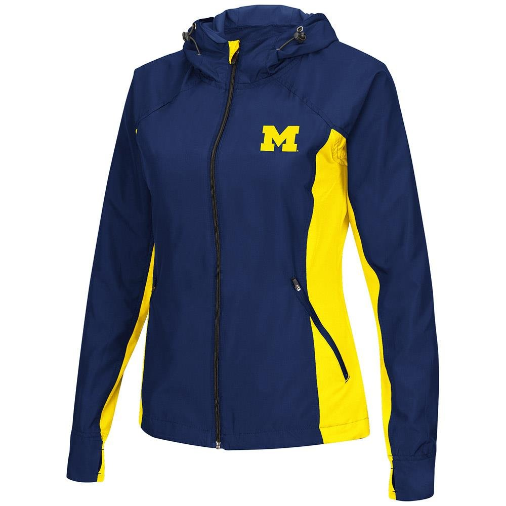 Colosseum Womens Michigan Wolverines Step Out Windbreaker Jacket Personalize with Your Name - S