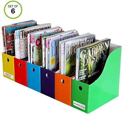 Amazon Evelots Set Of 40 Magazine File Holders And Labels Simple Colorful Magazine Holders