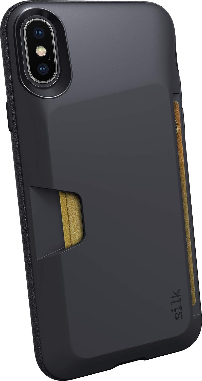 Silk iPhone XR Wallet Case - Wallet Slayer Vol. 1 [Slim Protective Vault Grip Credit Card Cover] - Black Tie Affair SLK-VTXM-BLACK