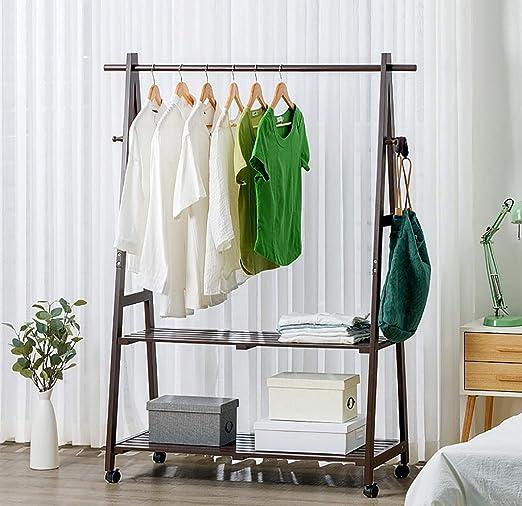 Kleiderablage Einfache Kleidung Rack Boden Massivholz Hängenden