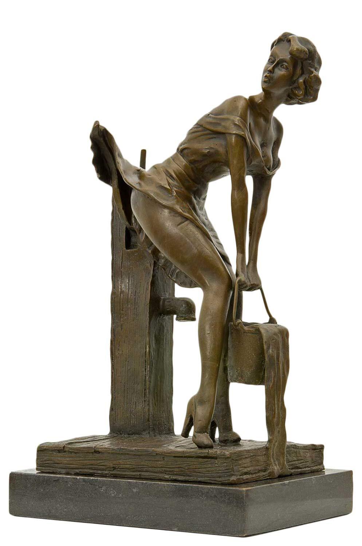 conveniente Scultura signora acqua fontana in bronzo anticato figura statua statua statua 34cm  prendiamo i clienti come nostro dio