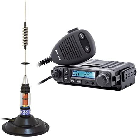 Midland PNI CB Radio M de Mini + Antena CB ml70, 70 cm de Largo, 145 mm Soporte Magnético Incluye