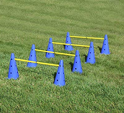Get Out! Hurdle Cone Set – Training Cones and Agility Poles, Adjustable Agility Ladder Speed Training Equipment for Kids