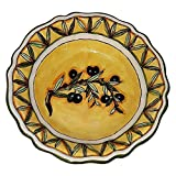 CERAMICHE D'ARTE PARRINI - Italian Ceramic Art Pottery Serving Bowl Centerpieces Hand Painted Decorative Olives Tuscan Made in ITALY