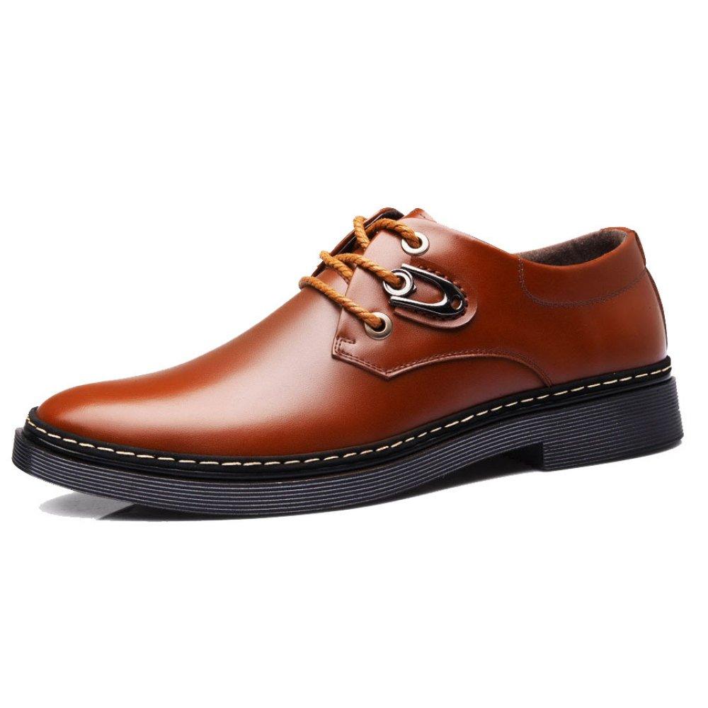OEMPD Zapatos Ocasionales De Negocios Para Hombres Zapatos Con Cordones Transpirables 43 Brown